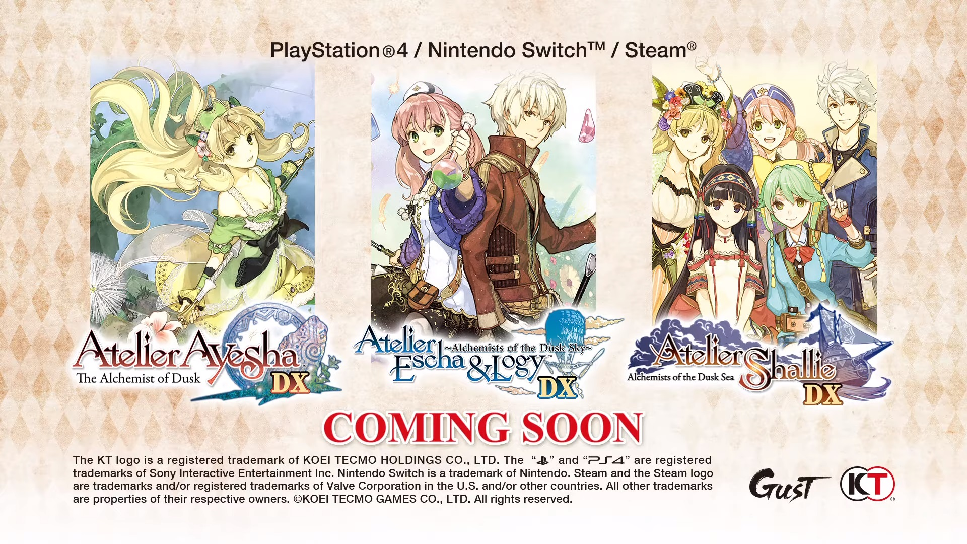 Debut trailer Atelier Dusk Trilogy Deluxe Pack cho PS4, Switch, PC