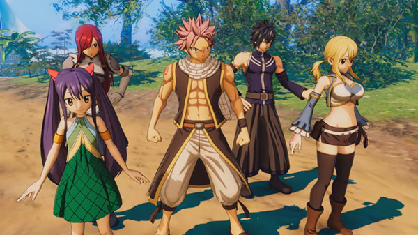 Gameplay và hình ảnh Fairy Tail cho PS4, Switch, PC