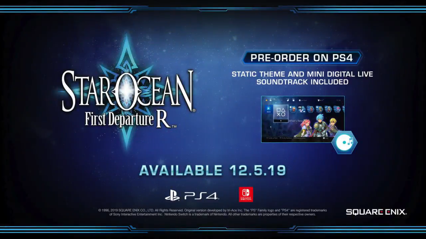 Trailer notice released Star Ocean: First Departure R for Switch and PS4