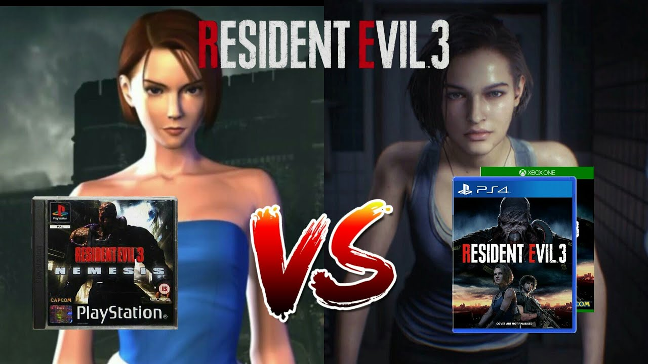 Video comparison gameplay Resident Evil 3 remake 2020 and Resident Evil 3 1999
