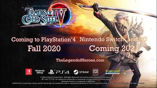 The Legend of Heroes: Trails of Cold Steel IV for Switch released on April 9, 2021